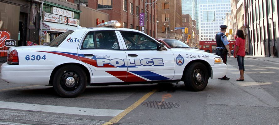 police car on the streets of Toronto
