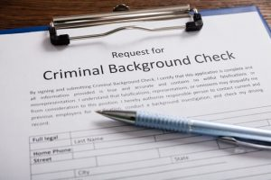Request for criminal record check