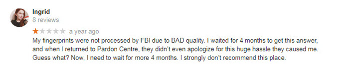 fingerprinting google review
