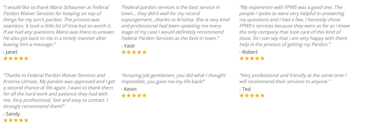 pardons canada service reviews
